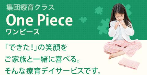 集団療育クラス One Piece ワンピース|「できた!」の笑顔をご家族と一緒に喜べる。そんな療育デイサービスです。